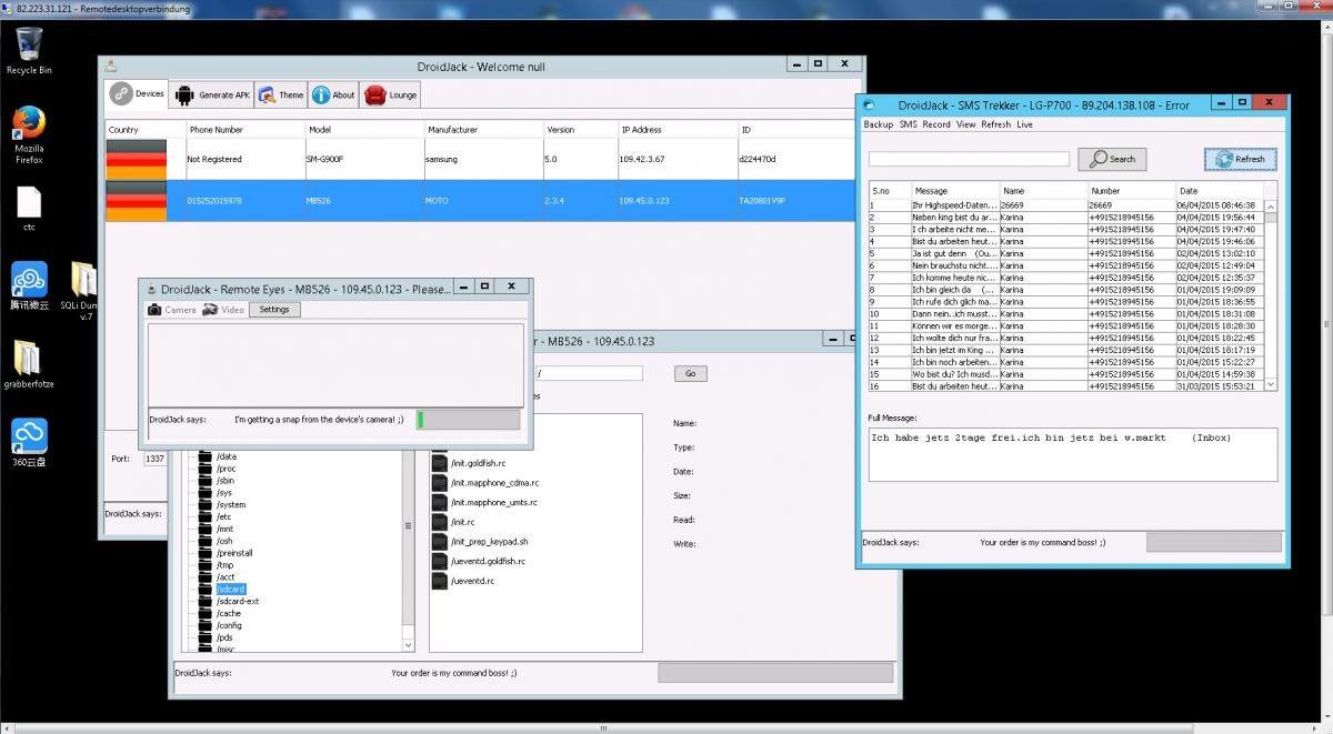 DroidJack] Android Remote Administration v 3 3 | Rat-Download